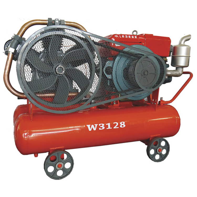 Hongwuhuan W3128 diesel 200L air compressor with tank