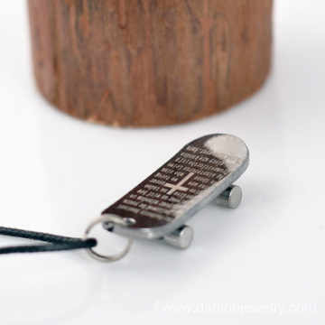 Wax String Neutral Titanium Steel Pendant Man Necklace