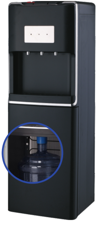 Hot and Cold Bottom Loading Glass Water Dispenser