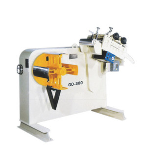 Combo uncoiler straightener machine