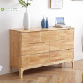 Light Solid Rubber Wood 7 Drawer Chest