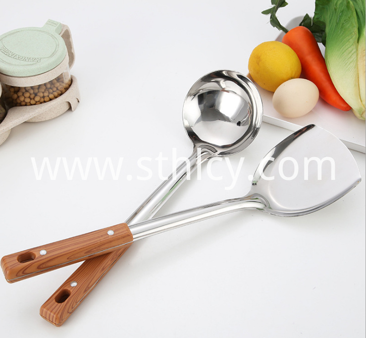 Stainless Steel Kitchen Utensils Spatula Spoon1