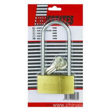China for Thin Brass Lock Single Skin Card Of Long Shackle For Wholesale export to Palau Suppliers