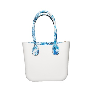 Italy O style Tote bags with pu handles