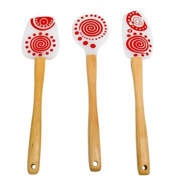 100% Food Grade Silicone Baking Cake Spatula Set