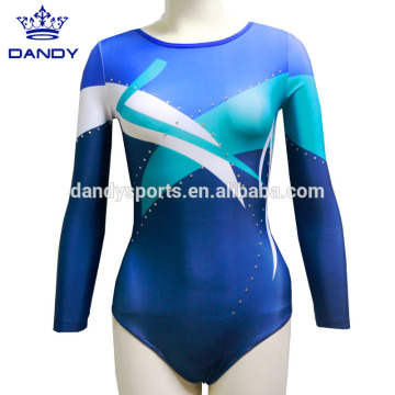 Keçên Leotards Adult Sleeveless Striped Sparkle Gymnastics Costumes Dance Wear