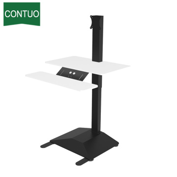 Popular Design for One Leg Standing Desk,Adjustable Computer Table,Adjustable Height Table Manufacturers and Suppliers in China Home Office Computer Standing Desk For Small Spaces supply to Burundi Factory