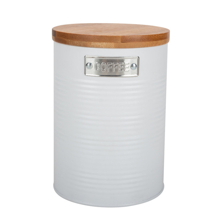 Coffee Canister Bamboo Lid