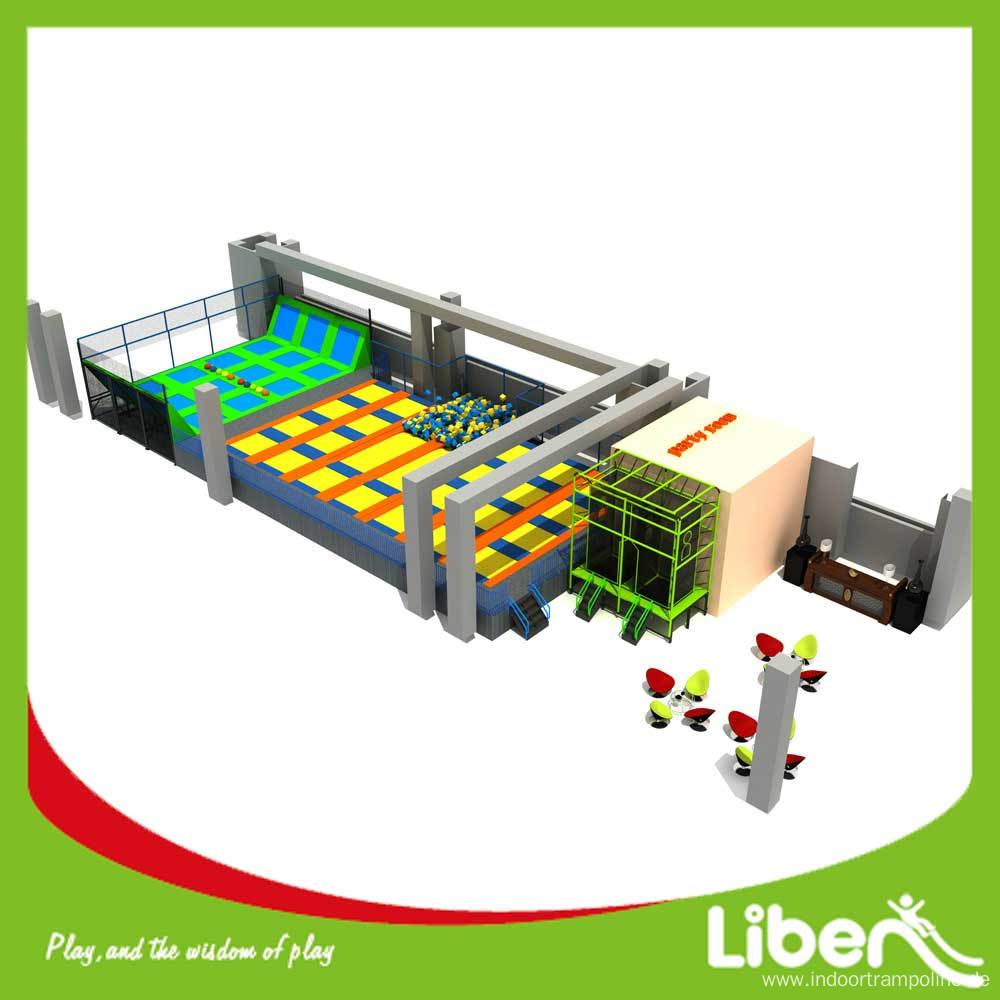 Extreme air indoor trampoline park dodgeball