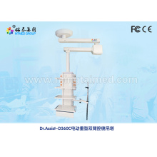 Double arm electric endoscopy medical pendant