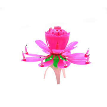 hot sale high quality customized lotus birthday candle