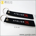 Hot Sell Embroidery Promotion Double Keychain Keyring