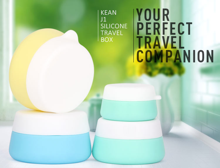 silicone travel jar