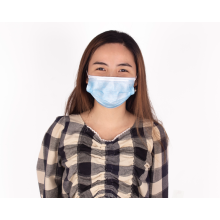 Blue 3-Ply Disposable Earloop Face Mask Virus
