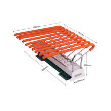 Top-mounted single row telescopic trouser frame product