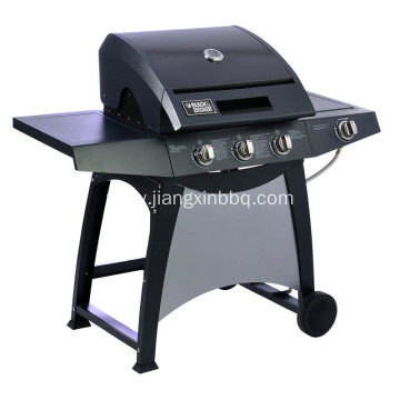 3-Burner Gas Grill with Side Burner