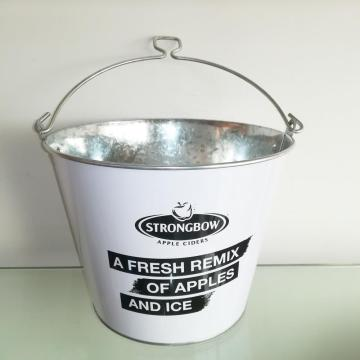 Tin bucket with bottle opener handle