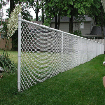 Home garden galvanized pvc coated chain link fence