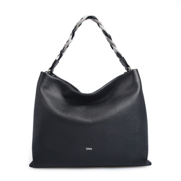 The Sak Flores Leather Black Zipper Hobo