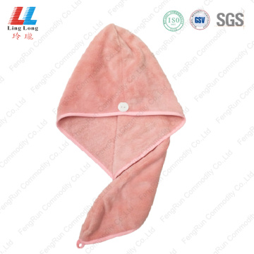 Basic pink hair dry quickly towel sponge