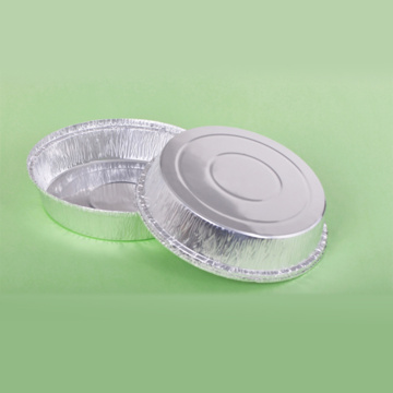 One-off Round Aluminum Foil Plate for Picnic