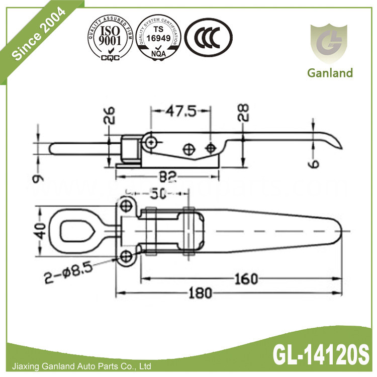 Heavy duty bolt on GL-14120S