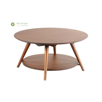 2 Floor Dark Walnut Massivholz Couchtisch