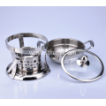 Stainless Steel Hot Pot With Alcohol Stove