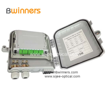 1x8 PLC Splitter Outdoor Fiber Terminal Box