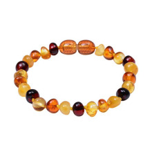 China Gold Supplier for Bead Bracelets Natural baltic amber teething bracelet for baby supply to Russian Federation Suppliers