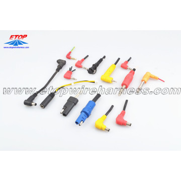 molded DC plug cable assembly