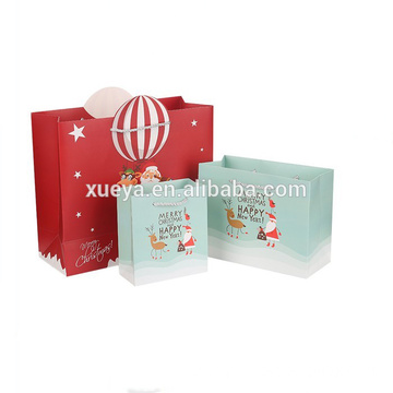 Colorful Christmas Gift Various Size Coated Paper Bag