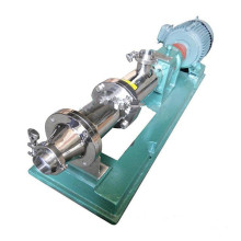 GF stainless steel sanitary grade single screw pump