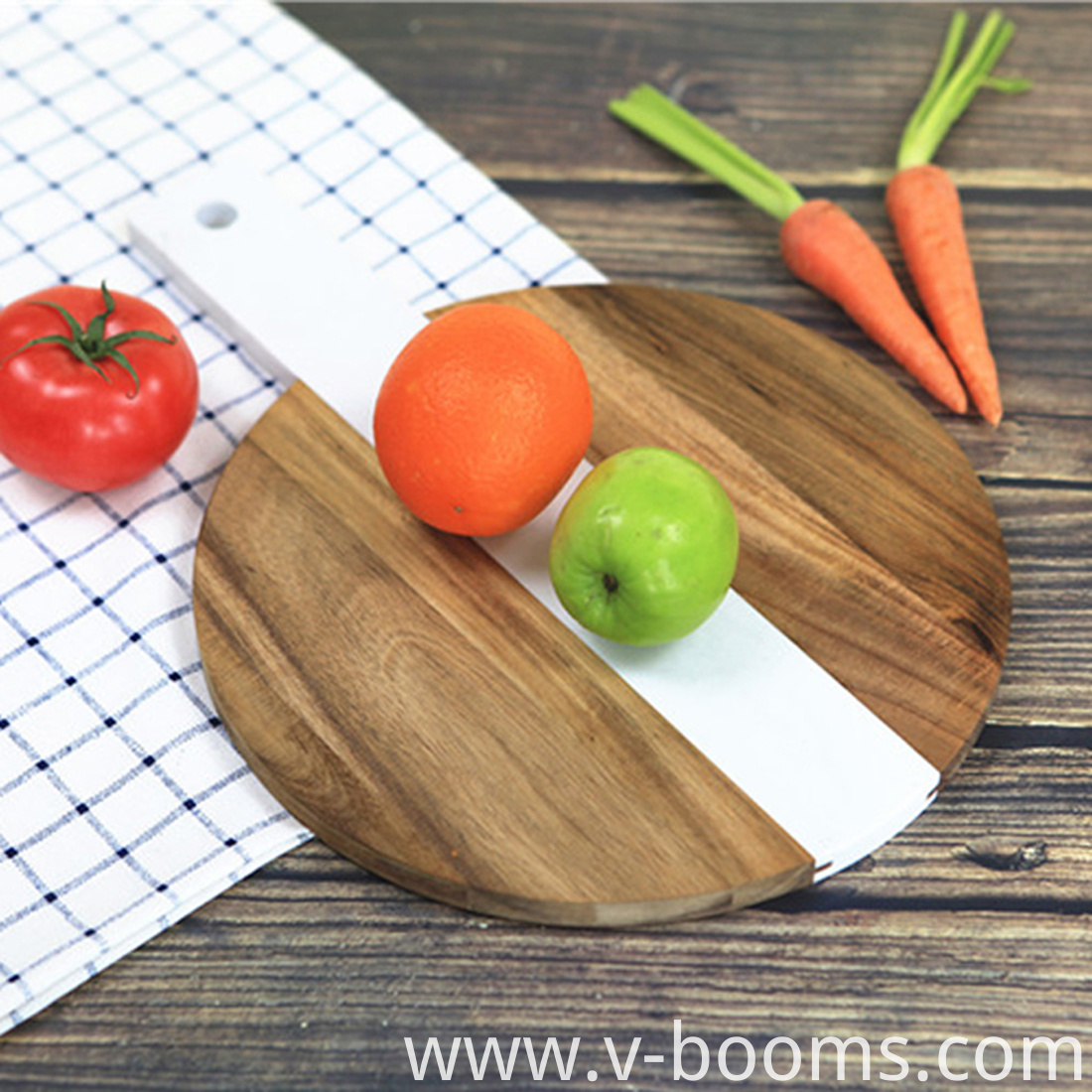 Acacia Wood and Marble Cutting Board