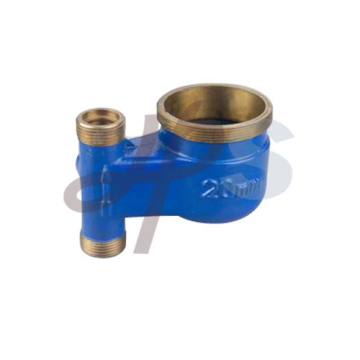Brass vertical water meter body