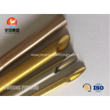 Leading for  Seamless Brass Low Fin Tube ASME SB111 C44300 For Condenser and Oil Cooler export to St. Pierre and Miquelon Exporter
