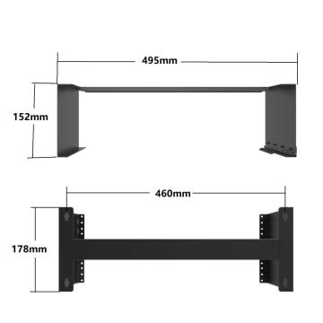 "19"" Foldable 4U Wallmount Network Bracket"