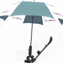 Clip fishing umbrella with holder steel rod