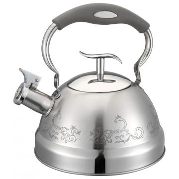 Flower Pattern Body Design Whistling Kettle