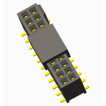 China Manufacturer for Pcb Connector,1.27Mm Female Pin Header,1.27Mm Pcb Header Manufacturers and Suppliers in China 1.27mm Female Header SMT Type With Bump export to Belgium Exporter