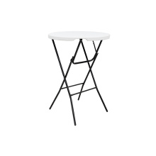 Home Round Plastic Bar Height Folding Table 80cm