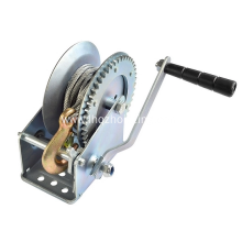 1600lbs galvanized  hand winch with cable