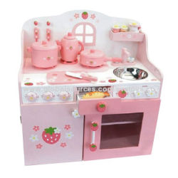 Kanak Mainan Dapur Kayu Memasak Set Langkah 60 34
