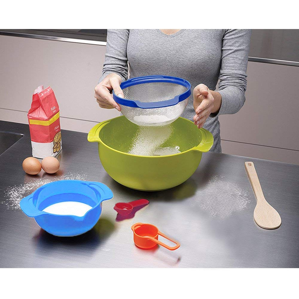 Plastic Colorful Mixing Bowl Set