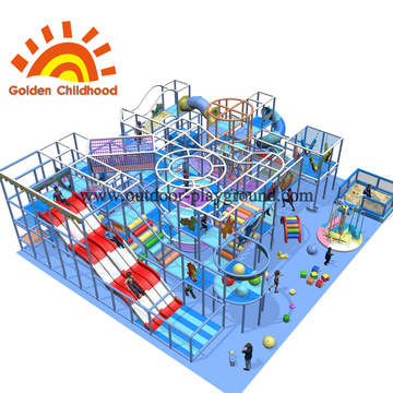 Mid-size Large Trampoline Park Structure