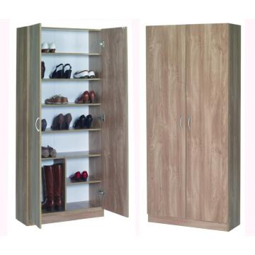 Hot selling mdf wooden shoe rack display