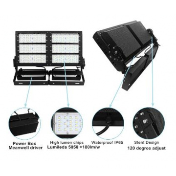 Vaavai e leai ni suavai 5 Warranty 300W LED Flood Lighting i le Stadium