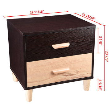 Wooden MDF Coffee End Table Nightstand Side Bedside Sofa Furniture