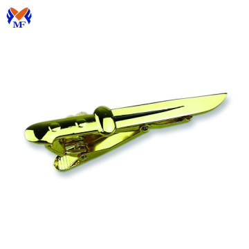 Mens gold sword tie clip cool unique