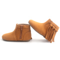 Girls Soft Boots High Top Baby Moccasin Shoes